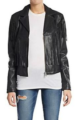 Bagatelle  - Fringe Faux Leather Jacket