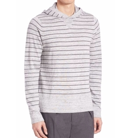 Vince  - Jaspe Striped Hooded Sweater