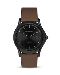 Emporio Armani Swiss Made - Rubberized Leather Watch