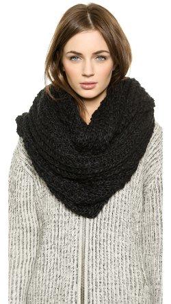 Paula Bianco  - Chunky Knit Wrap Scarf