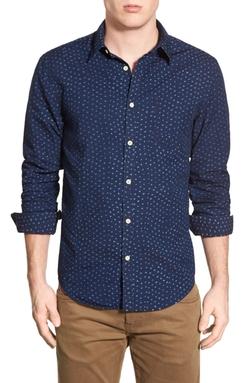 Lucky Brand - Dot Print Woven Shirt