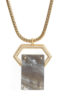 Rachel Zoe - Jewel Rivet Pendant Necklace
