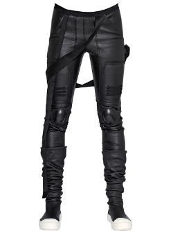 Rick Owens  - Stretch Nappa Leather Trousers