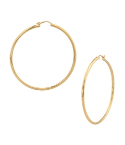 Nadri - Round Knife Edge Hoop Earrings