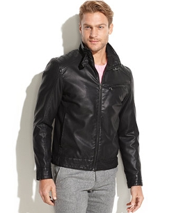 Emanuel Ungaro F - Faux Leather Bomber Jacket