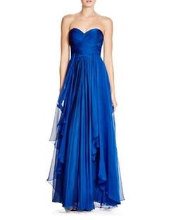 La Femme - Draped Strapless Gown