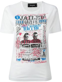 Dsquared2  - Gazette Jailed Print T-Shirt