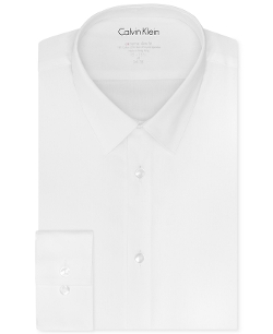 Calvin Klein - Slim-Fit Solid Dress Shirt