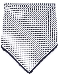 Brunello Cucinelli   - Tiny Diamond Print Pocket Square