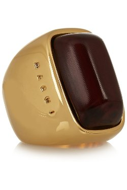Marni  - Gold-Plated Horn Ring