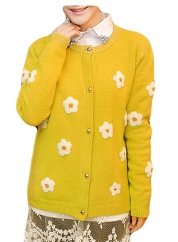 Ours - Daisy Floral Print Cardigan