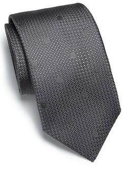 Ike Behar  - Tonal Dot Silk Tie