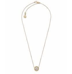 Michael Kors  - Logo CZ Pendant Necklace