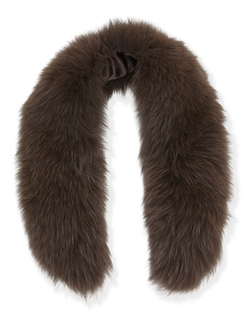 Alice + Olivia - Izzy Fox Fur Collar Scarf