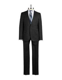 Hugo Boss - Two-Piece Wool Pindot Suit