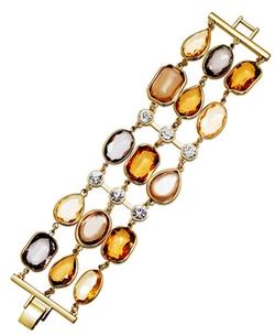 Charter Club - Stone Three-Row Bracelet