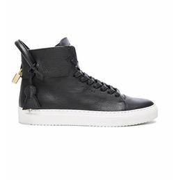 Buscemi - High Top Pebbled Leather Sneakers