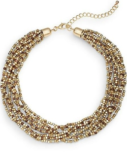 Saks Fifth Avenue  - Multi-Tone Beaded Collar Necklace