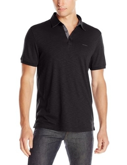 Calvin Klein  - Short-Sleeve Slub Polo Shirt