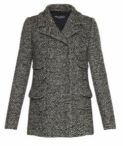 Dolce & Gabbana  - Four Pocket Herringbone Tweed Jacket