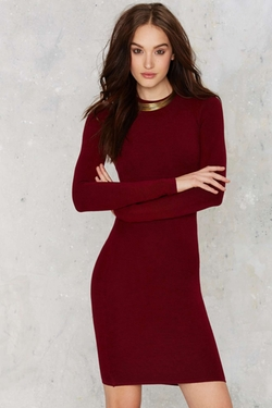 Nasty Gal - To Be Divine Ribbed Mini Dress