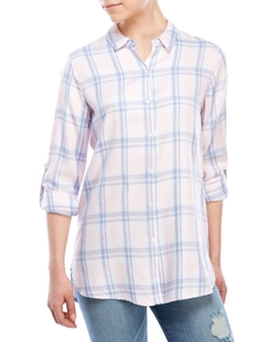 Philosophy - Plaid Roll-Sleeve Shirt