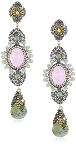 Miguel Ases  - RutilateQuartz Long Drop Earrings