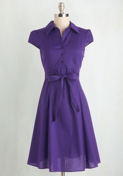 ModCloth - Soda Fountain Dress In Grape