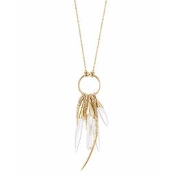 Alexis Bittar - Rock Crystal Burst Pendant Necklace