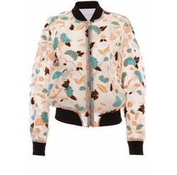 Francesco Scognamiglio - Floral Front Zip Bomber Jacket