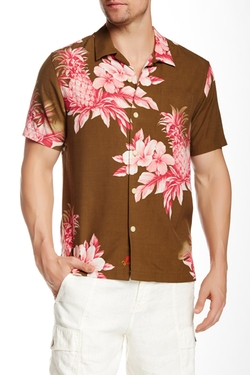 Tommy Bahama  - Pina Colada Pineapple Short Sleeve Modern Fit Shirt