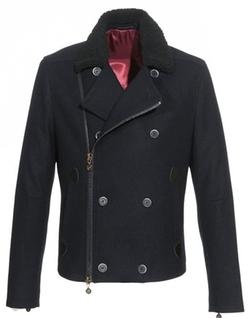 Do Rego & Novoa - Vintage Fleece Collar Slim Moto Jacket