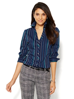 7th Avenue Design Studio - Stripe Madison Shirt