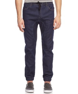 Retrofit - Fleece Denim Jogger Pants