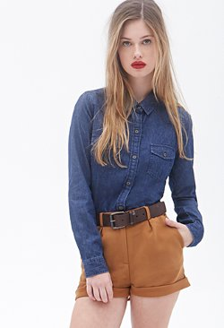 Forever21 - Denim Western Shirt