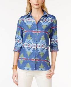 Printed Button Down Shirt - Printed Button Down Shirt