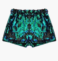 Genuine People - Sequin Tight Crop Shorts