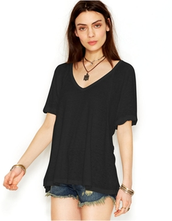 Free People - Free Falling Shirttail V-Neck Tee