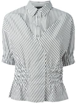Marc By Marc Jacobs   - Cross Front Striped Shirt