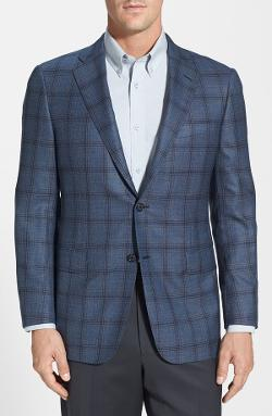Hickey Freeman  - Classic Fit Plaid Sport Coat