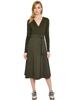 Max Mara  - Viscose Jersey & Stretch Wool Dress