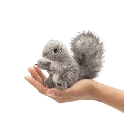 Folkmanis Puppets - Gray Squirrel Finger Puppet Toy