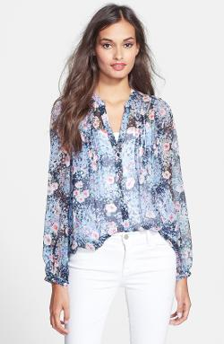 Joie  - Martine C Split Neck Silk Blouse