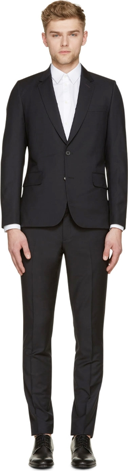 Paul Smith London - Black Wool Gents Slim Soho Suit