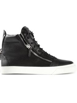 Giuseppe Zanotti Design - Zip Detail Hi-Top Sneakers