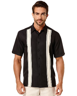 Cubavera - Short-Sleeve Panel Shirt