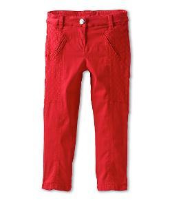 Chloe  - Kids Satin Pants w/ Zipper Bottom & Stitching Detail