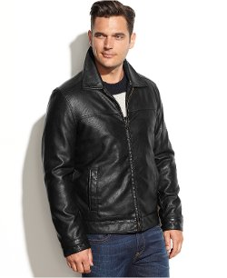 Tommy Hilfiger  - Classic Faux-Leather Jacket