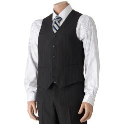 Savile Row - Striped Black Suit Vest