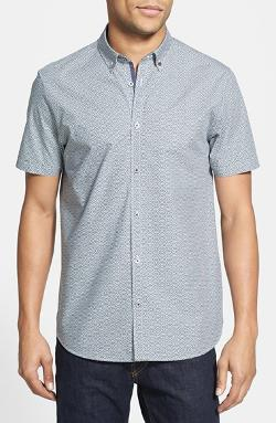 Ted Baker London  - Hexigan Print Short Sleeve Sport Shirt